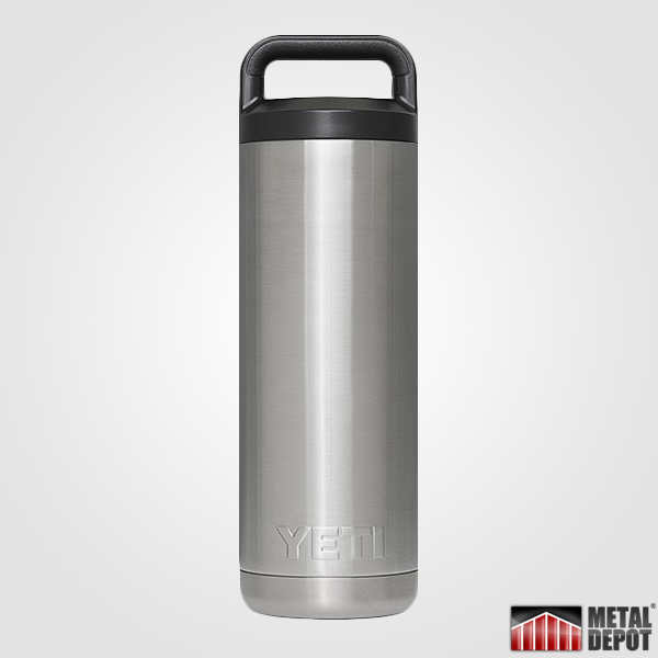 Powder Coated Yeti 18 Oz Bottle Rambler With Custom Laser Etching