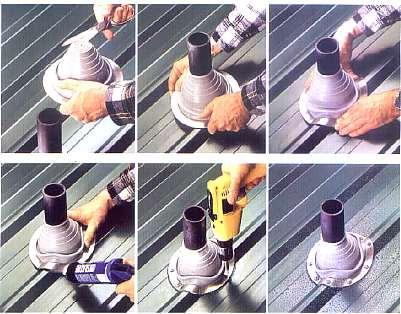 Installation Of Pipe Flashings