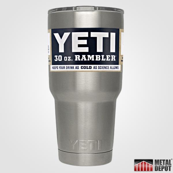 Powder Coated Yeti 30 Oz Rambler Tumbler With Custom